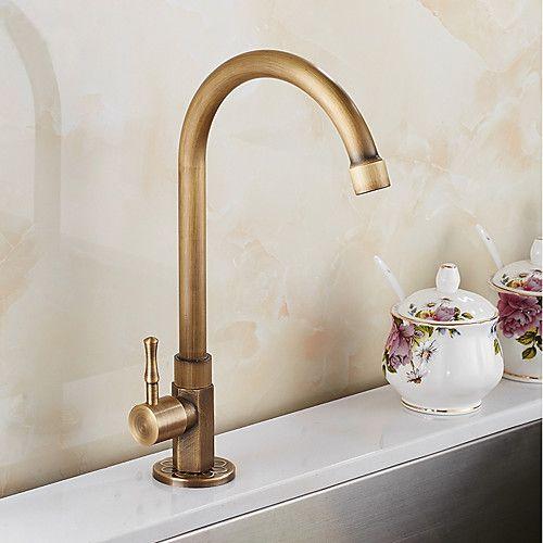 Kitchen Faucet Antique Brass Standard Spout Tall High Arc Vessel Antique Kitchen Taps 2021 Us 62 49 Kitchen Faucet Kitchen Taps Antique Brass Kitchen Faucet