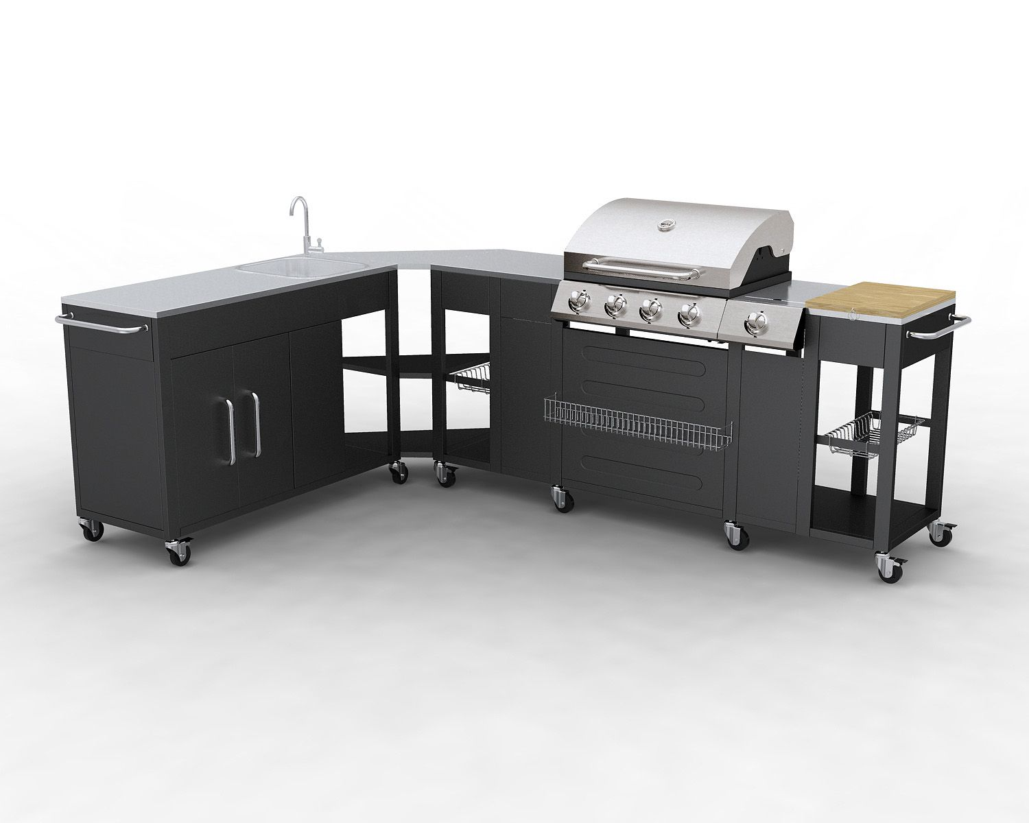 Meuble Barbecue Barbecue Gaz Inox Grand Meuble Cuisine D 39angle Modulable