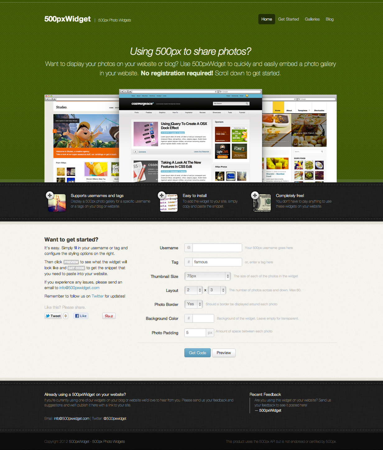 Want to display your photos on your website or blog? Use