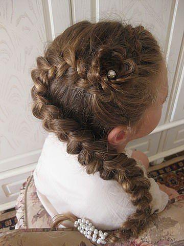 Stylish French Braid Ponytail For Little Girls Kids
