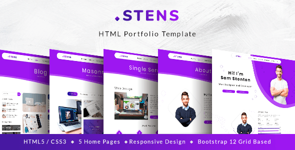 Stens - Personal Portfolio and CV HTML Template | Best
