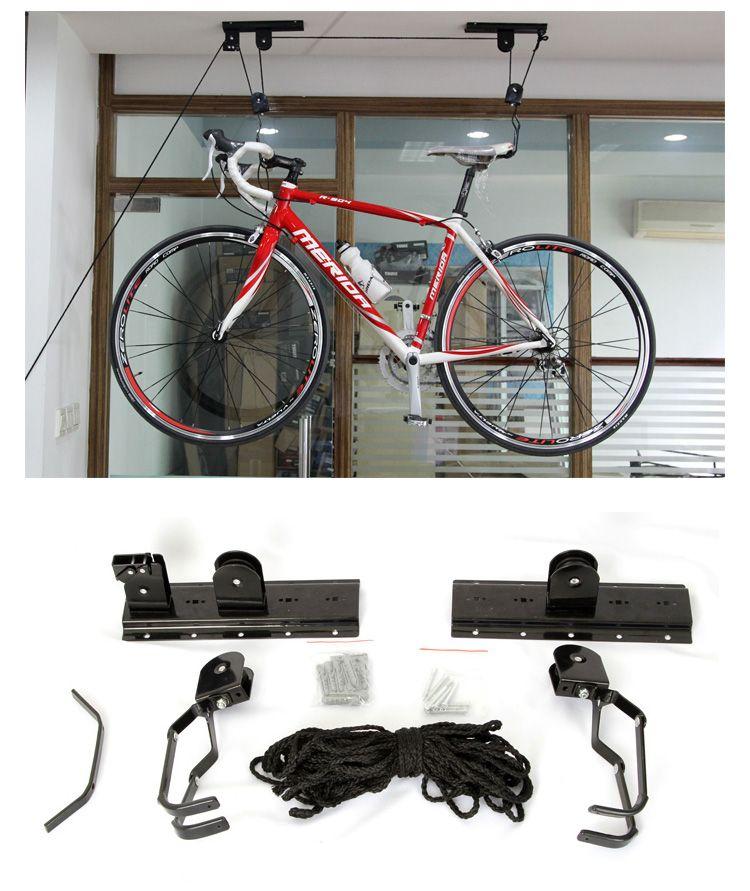 crochet mural v lo palan de levage ceiling mount bike hangar de stockage de galerie de toit. Black Bedroom Furniture Sets. Home Design Ideas