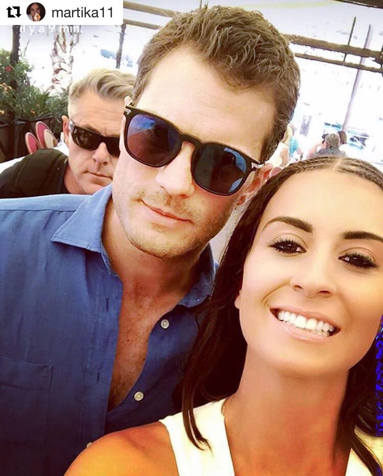 Jamie Dornan and Martika (French reality TV star) in France on July 12, 2016 http://everythingjamiedornan.com/gallery/thumbnails.php?album=36