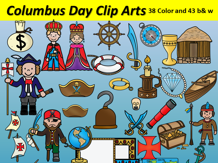 Columbus Day Clipart 81 Images 38 Color And 43 B W Bilingualstars Clips Columbus Day Clipart Clip Art Color