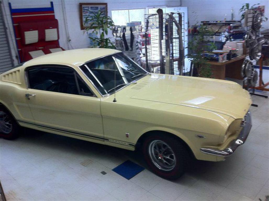 '66 Springtime Yellow Fastback by The Mustang Shop of San