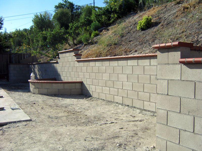 Masonary Brick Retaining Walls Google Search Backyard Retaining Walls Patio Concrete Patio