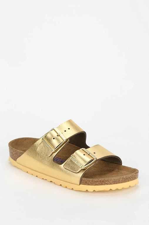 cb59d761961b Arizona Soft Footbed Metallic Leather Sandal