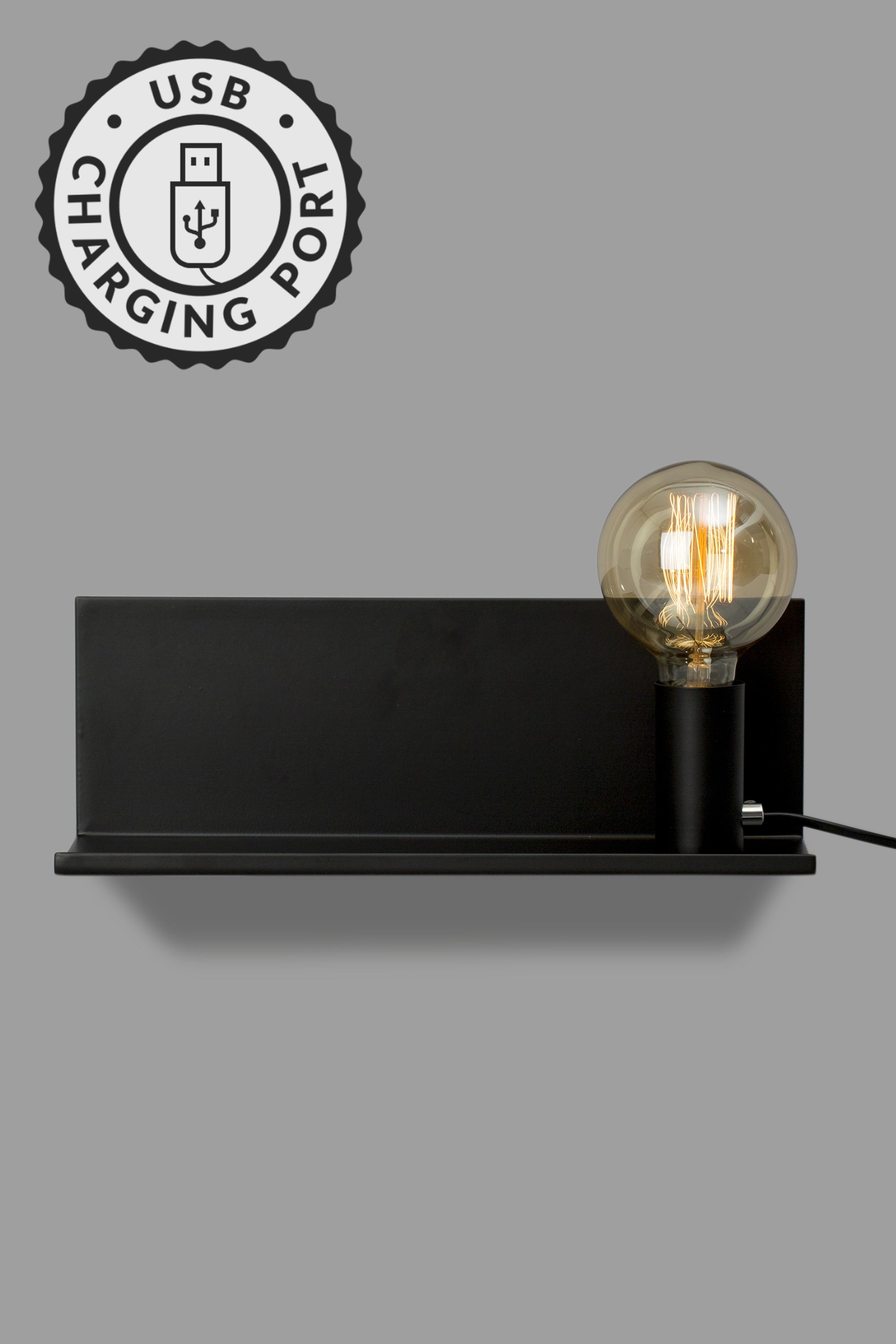 Ives Wall Light, Black - Bhs