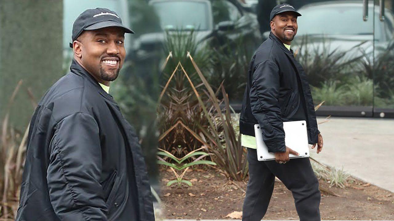 My Chi Girl Proud Dad Kanye West Grins As Kim Kardashian Reveals New Ba