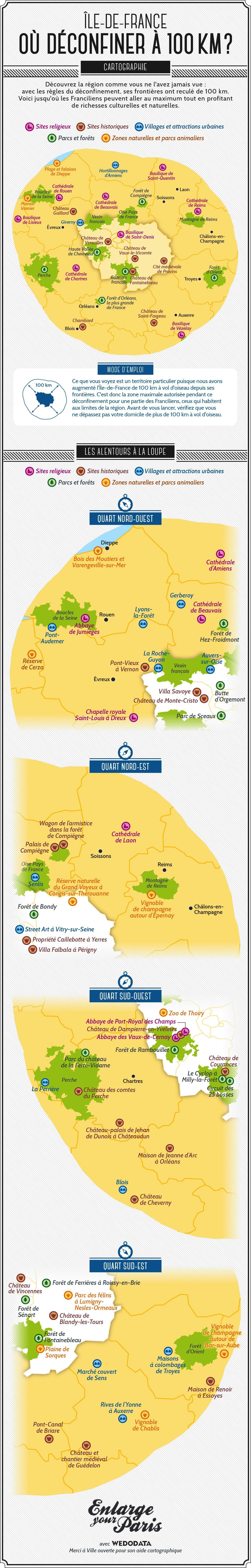 Notre carte touristique de l'ÎledeFrance post