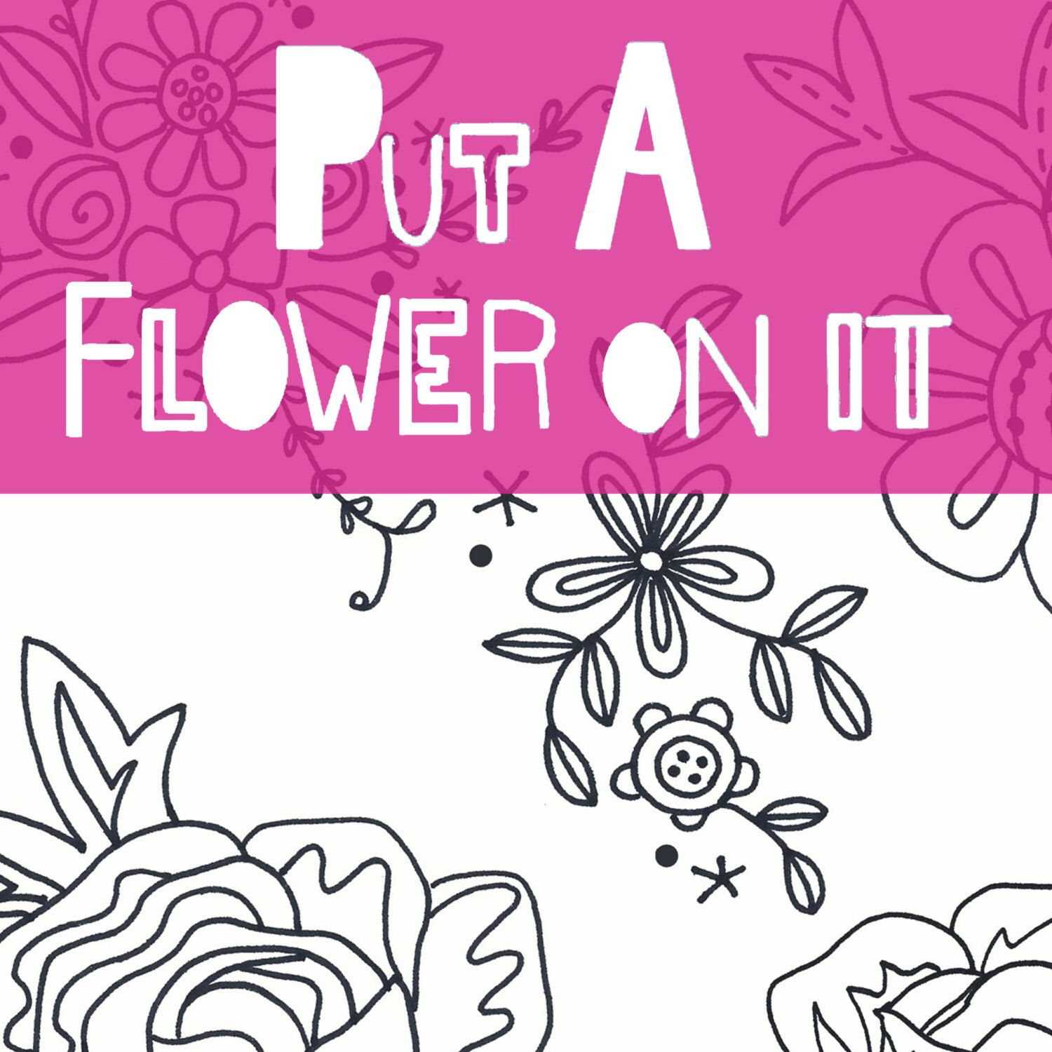 Flower embroidery pattern pdf set of flower motifsprintable