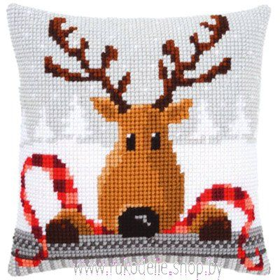 Vervaco Deer Pillow Cover Latch Hook Kit
