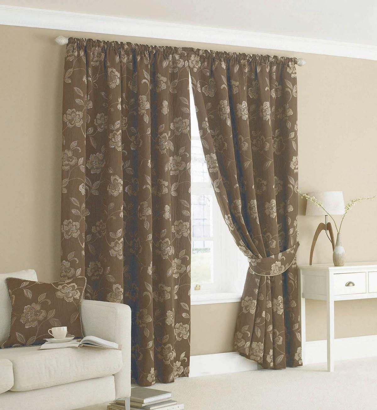 Belgravia Lined Ready Made Curtains Chocolate