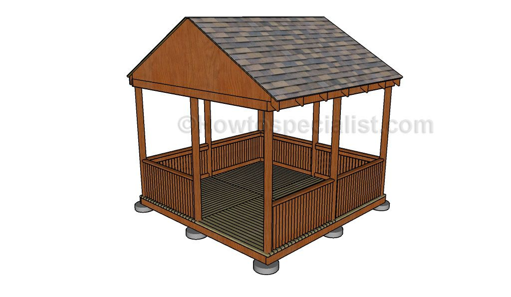 Square Gazebo Plans Howtospecialist Com Outdoor Gazebo Square