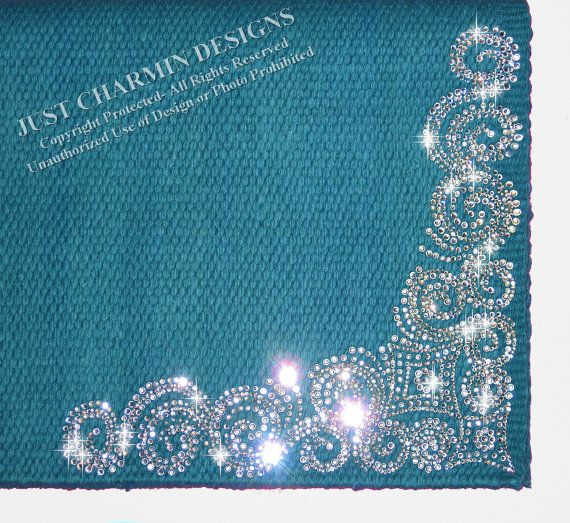 Feather Border Turquoise