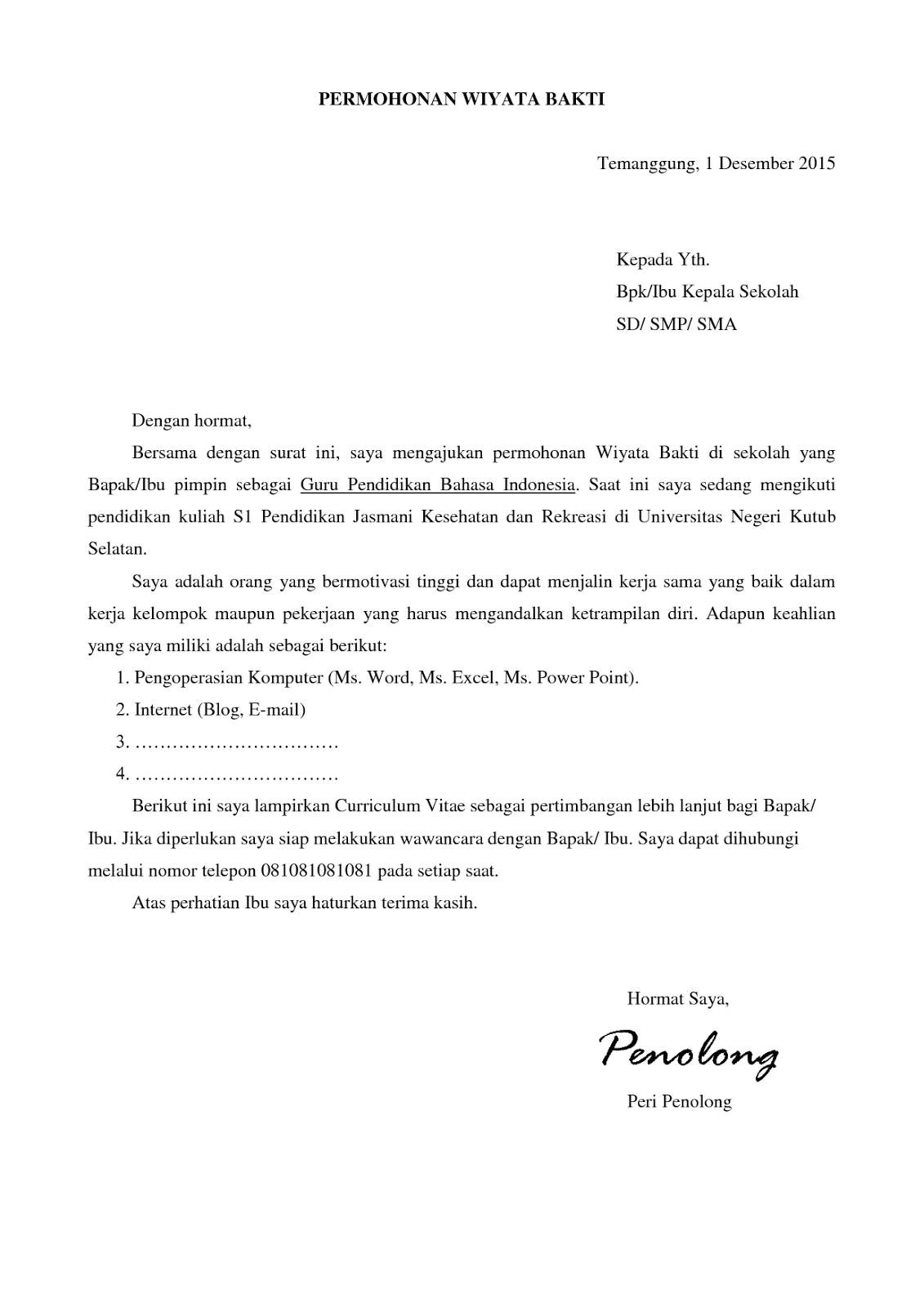 Contoh Surat Lamaran Kerja Dalam Bahasa Inggris Dan Terjemahannya Aneka Contoh Cute766