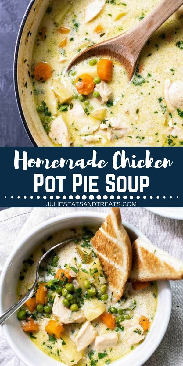 Homemade Chicken Pot Pie Soup Recipe
