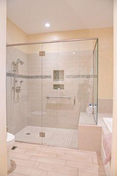 Seam Less Shower Modern Bathroom Bathrooms Remodel Frameless