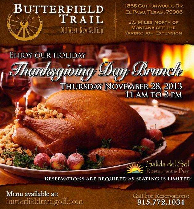 Thanksgiving Brunch In El Paso November 22 Butterfield Trail Food Thanksgiving Dinner Thanksgiving Recipes