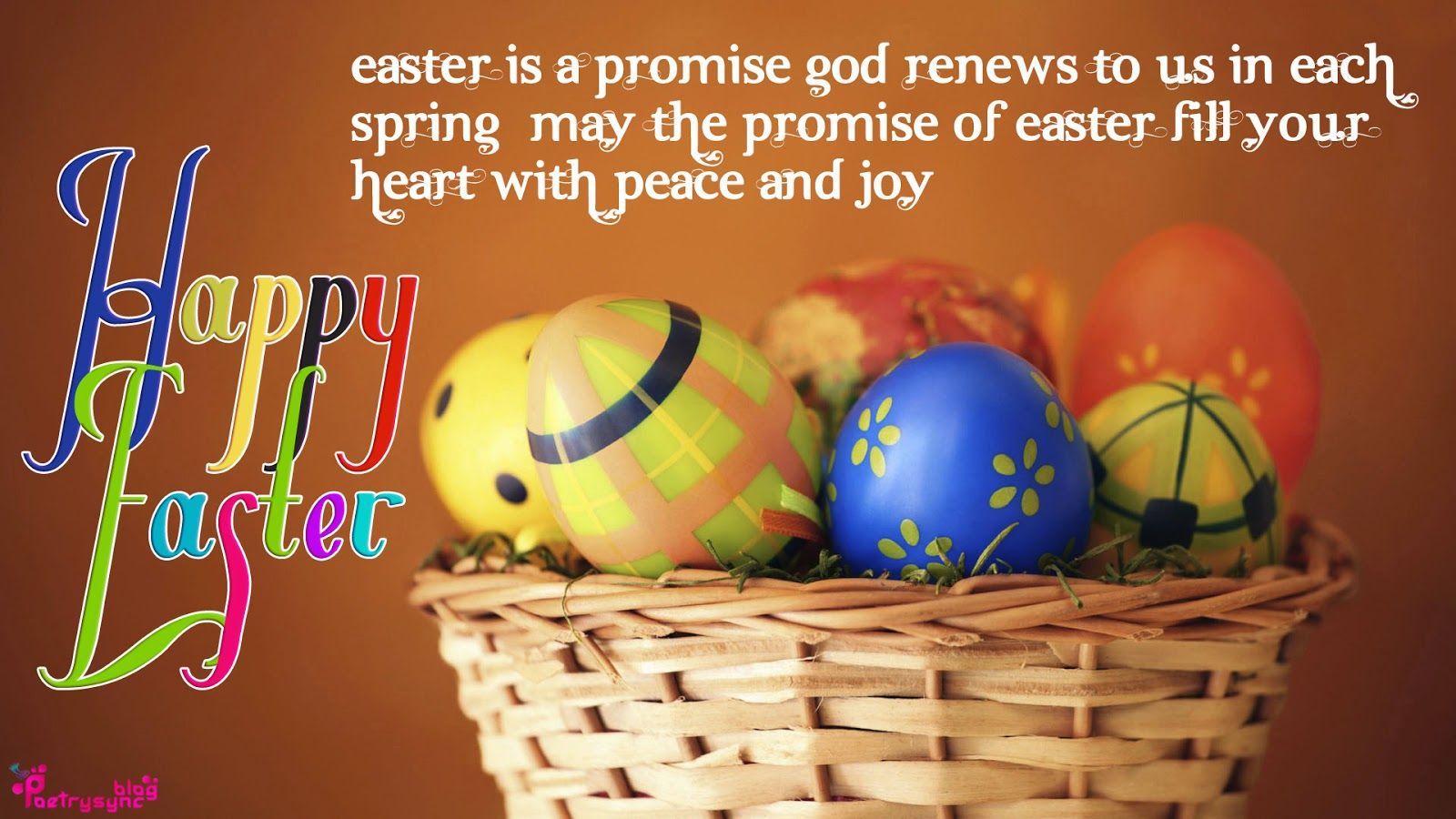 Happy Easter Holiday Wishes With Bunny Greetings Wallpaper Easter