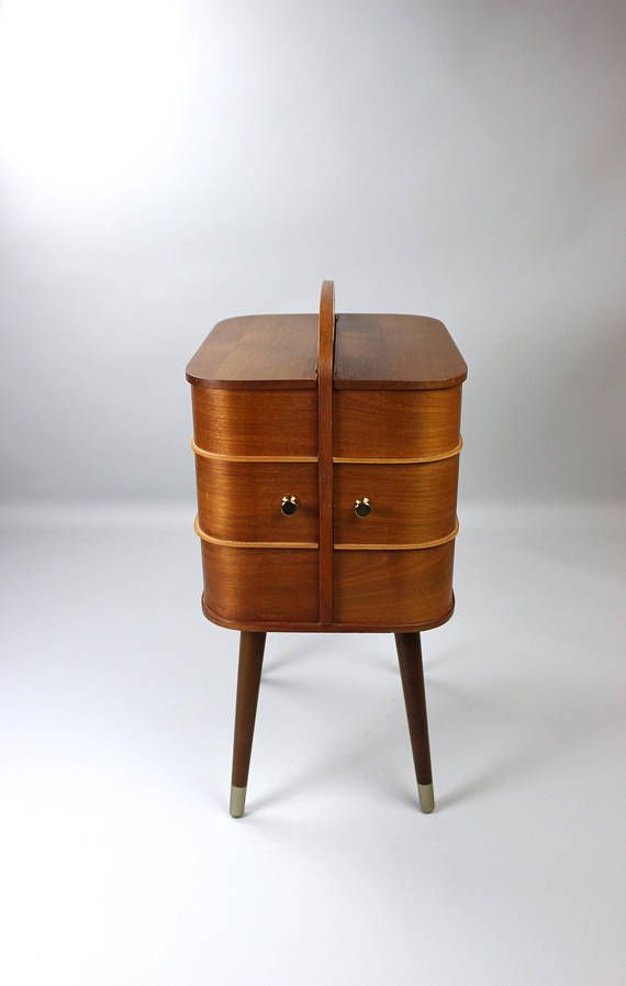 Vintage sewing box sewing box sewing Cabinet coffee table sewing box ...