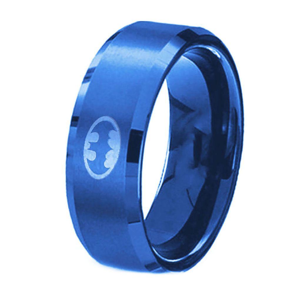 Batman ring men stainless steel band wedding engagement