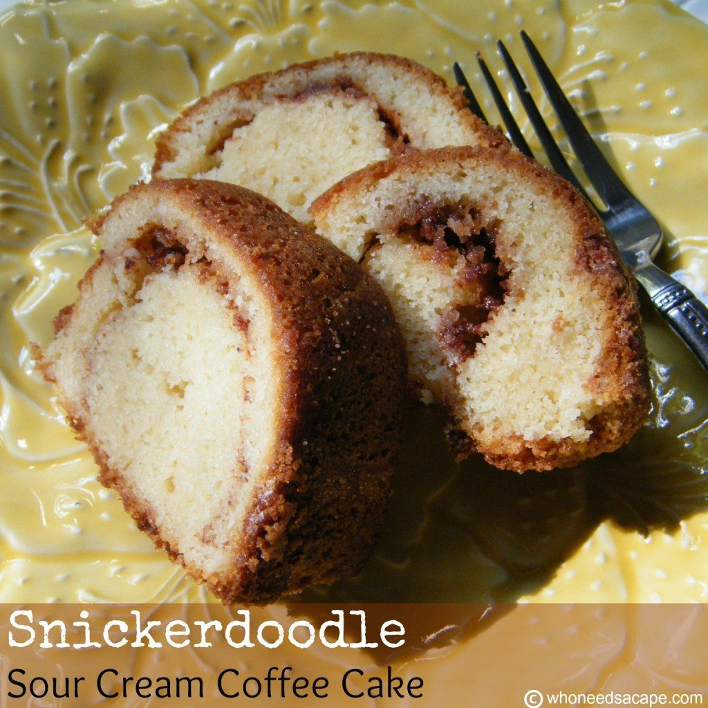 Snickerdoodle Sour Cream Coffee Cake On Myrecipemagic Com Coffee Cake Sour Cream Coffee Cake Sour Cream Cake