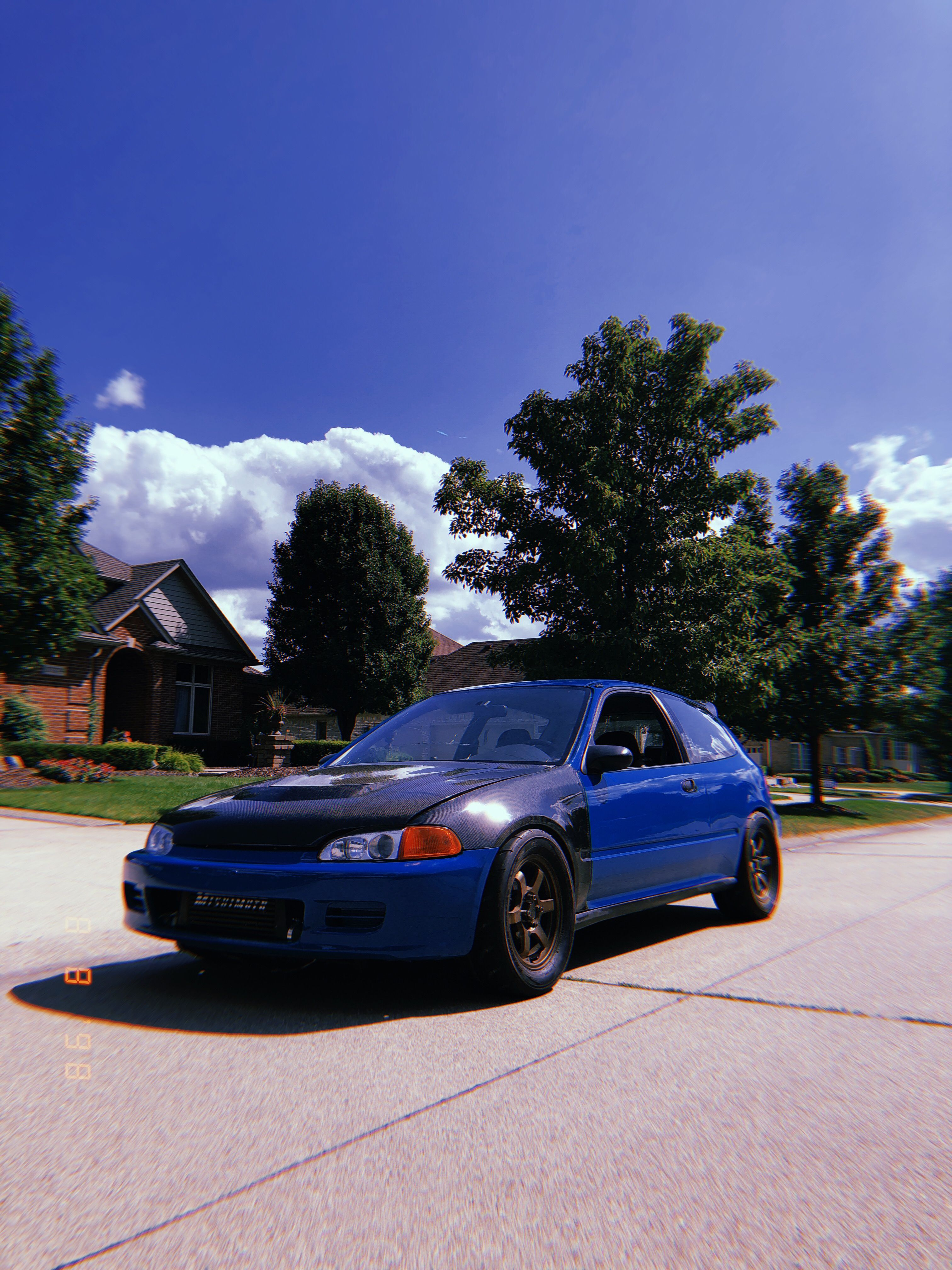 Big turbo eg6 with full carbon hood and fenders turbo