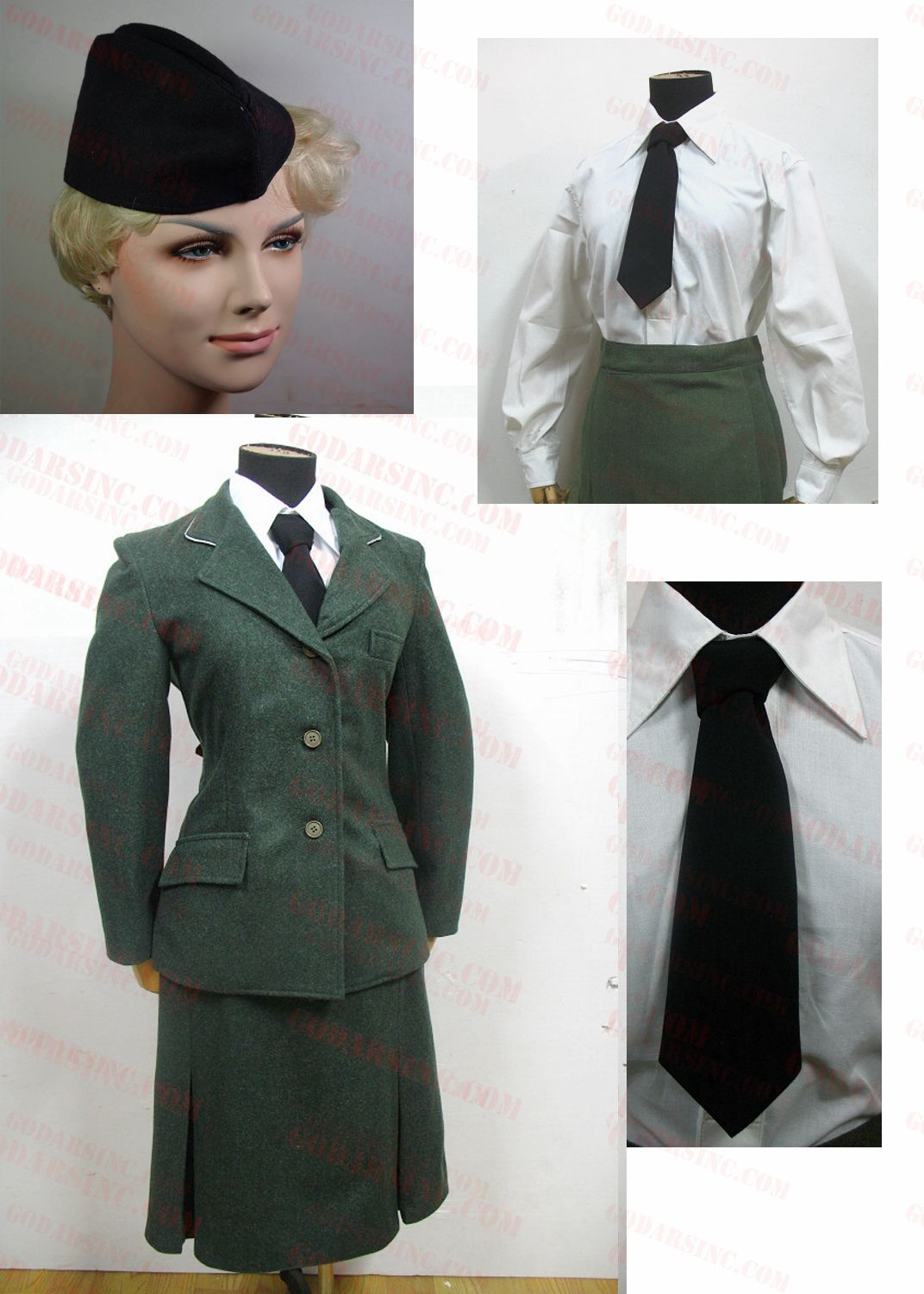 ww2 german wss helferin female uniform set wwii amp wwi