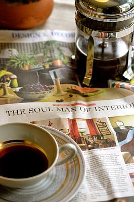...6/5/2016...having coffee and reading the Sunday paper