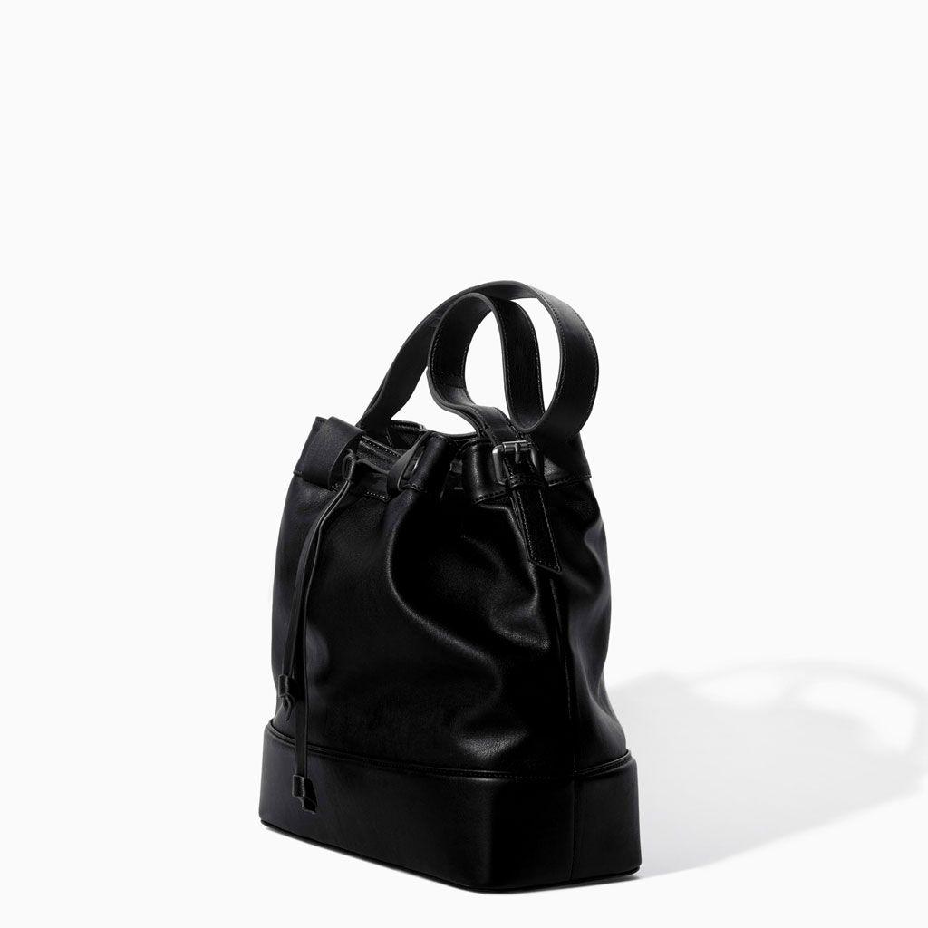 Image 1 of DRAWSTRING BUCKET BAG from Zara