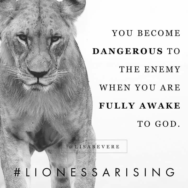 You become dangerous to the enemy when you are fully awake