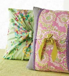 How To Sew A Pillow Cover Pleasing These Are The Easiest No Sew Pillow Covers Ever—Just Fold Tie And Decorating Design