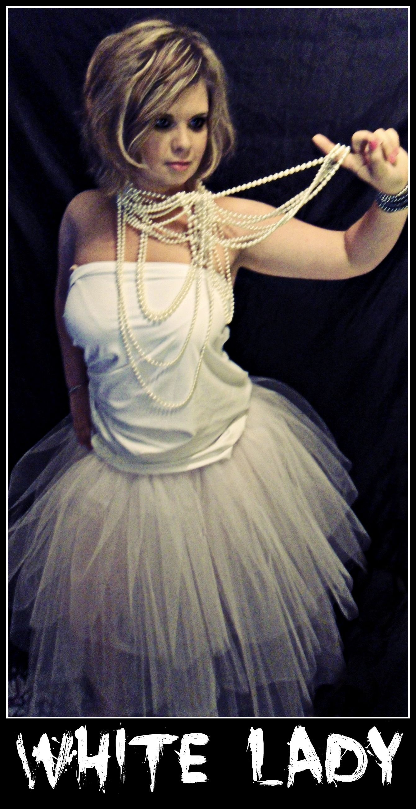 White Lady Ghost Halloween Costume Floor Length Tutu Spooky Www