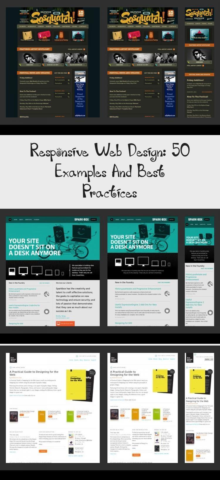 Responsive Web Design 50 Examples And Best Practices Design Design Examples Practices Responsive Web En 2020 Diseno Web Disenos De Unas Blog