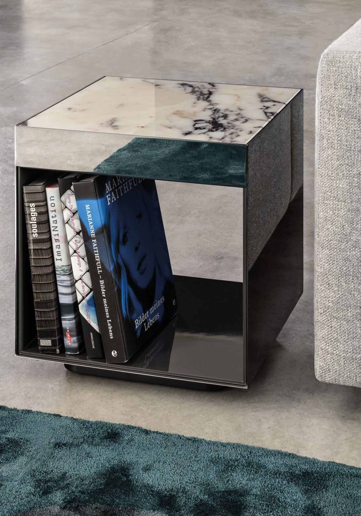 Elliot by minotti design rodolfo dordoni table for Mesa auxiliar esquinera