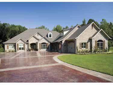 Beautiful Combination of Brick and Stone Exterior (HWBDO57792) | New ...