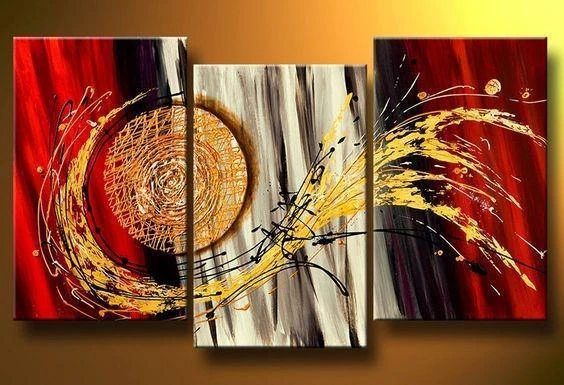 Top 10 Abstract Painting 100 Hand Painted Art Painting 3 Panel Canvas Painting Homear Modern Art Paintings Canvas Paintings For Sale Abstract Art For Sale