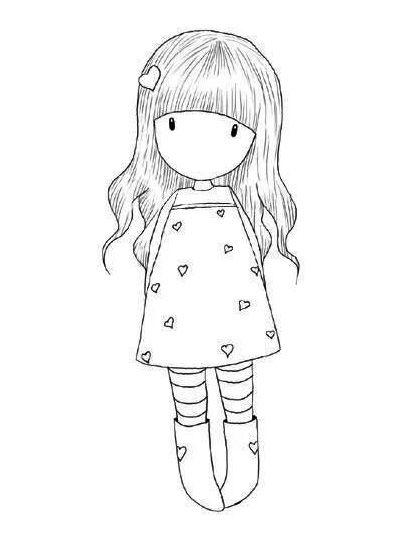 Dibujos de Gorjuss Santoro para colorear e imprimir gratis | muñecas ...