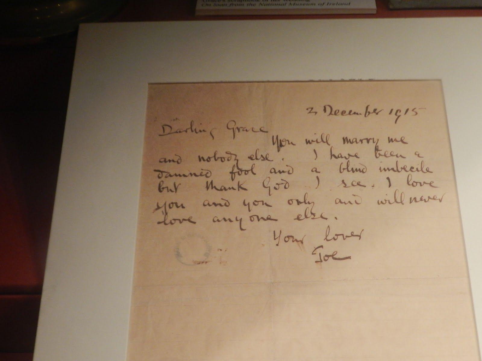 Kilmainham Gaol Joseph PlunkettS Love Letter To Grace Gifford