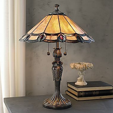 Dale Tiffany Aldridge Peacock Table Lamp Jcpenney Stained