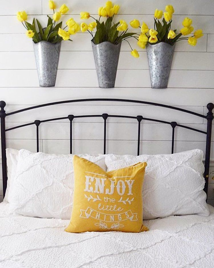 Galvanized Wall Pockets From Hobby Lobby Guest Bedroom Decor Yellow Wall Decor Decor