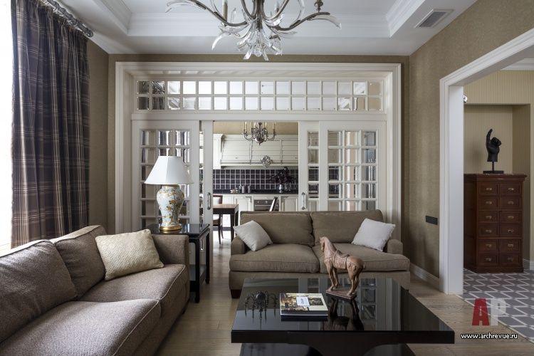 Фото интерьера гостиной квартиры в стиле современная ...