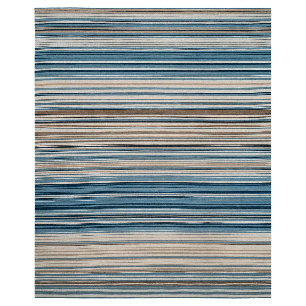 Blue Multi Stripes Tufted Area Rug 9 X12 Safavieh Products