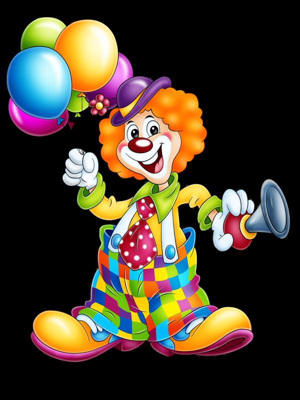 Темный дворецкий, картинка с клоуном