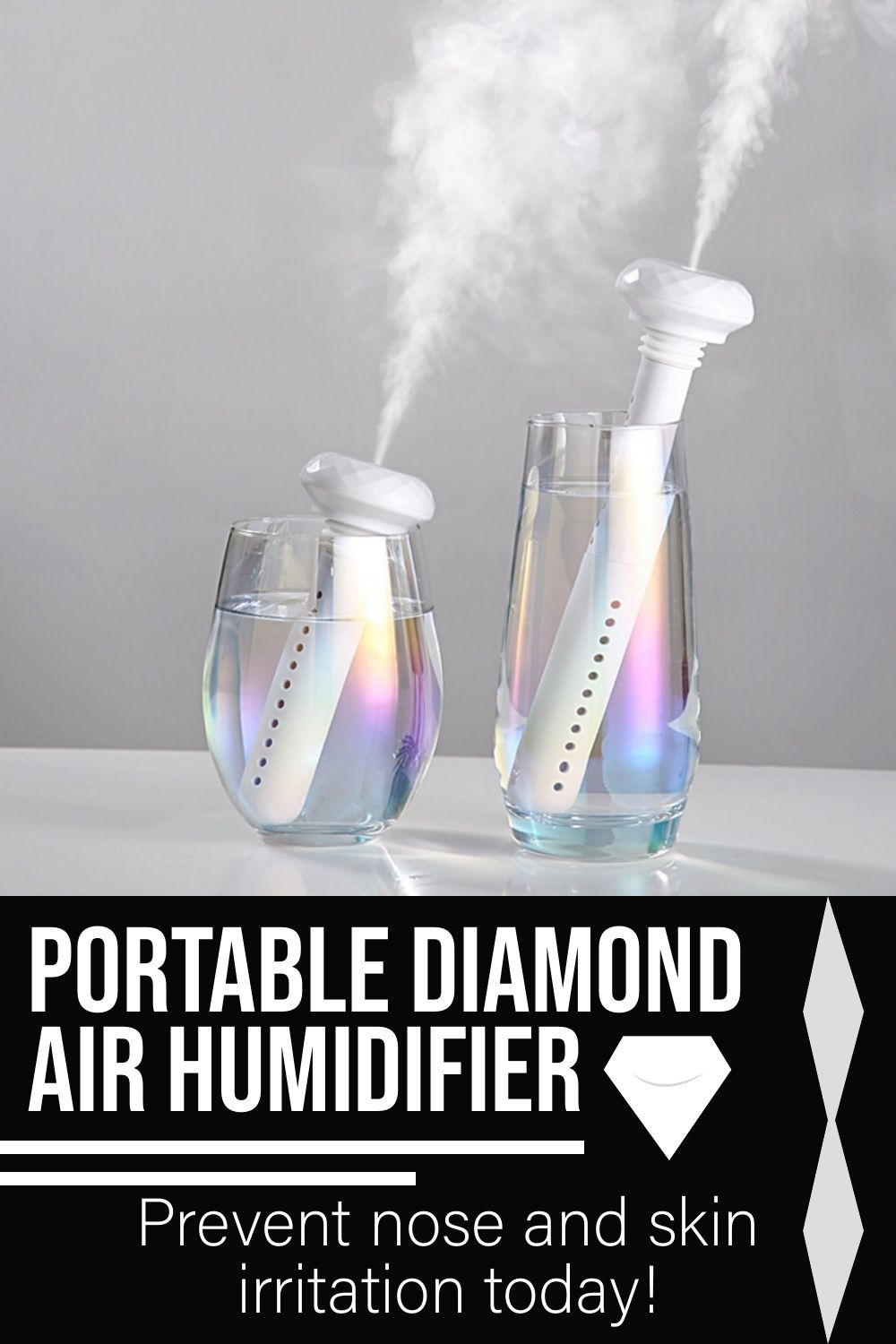 Portable Diamond Air Humidifier In 2020 Air Humidifier Portable Air Purifier Humidifier