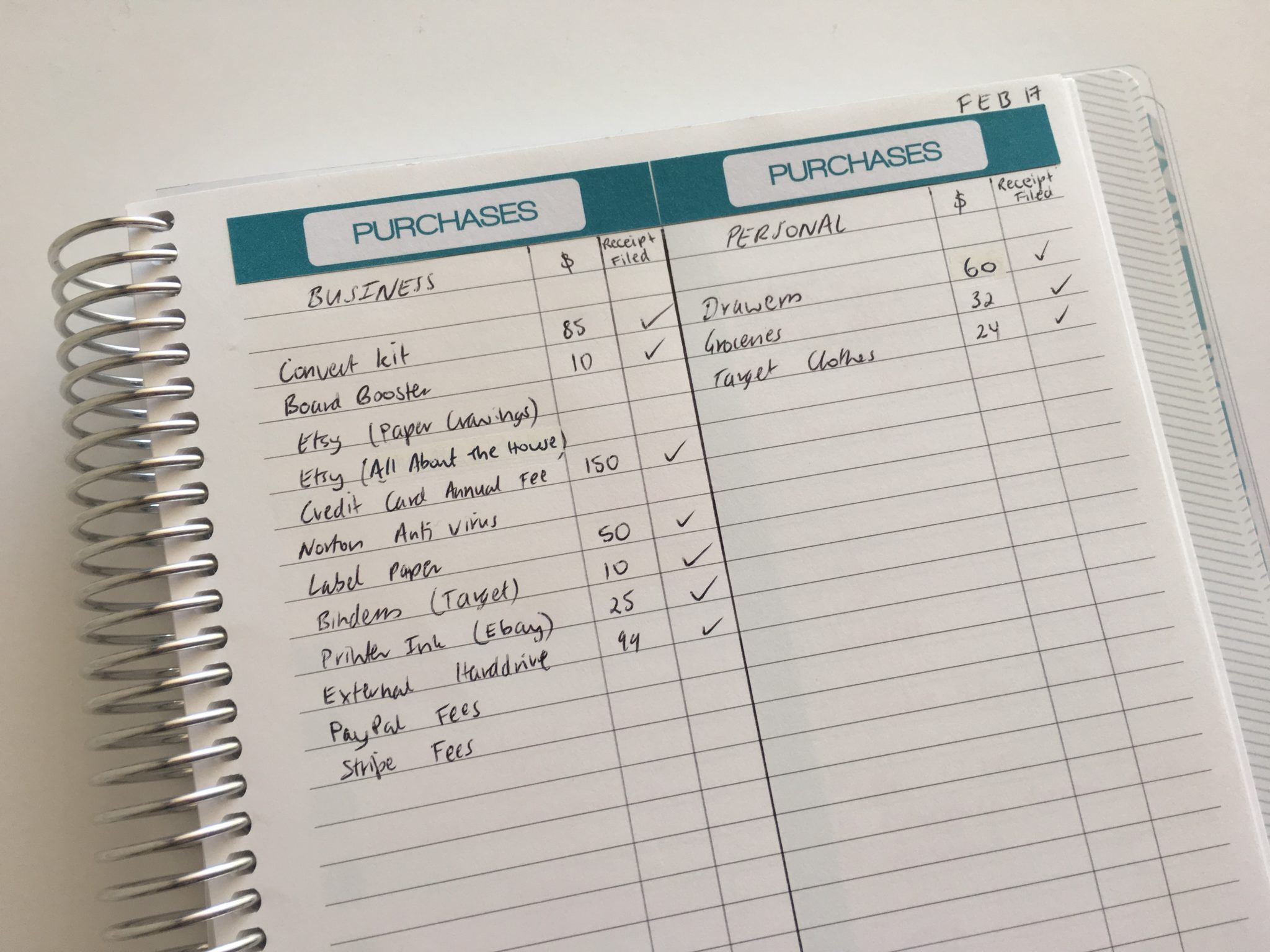 How To Keep Track Of Spending Using Stickers And Blank