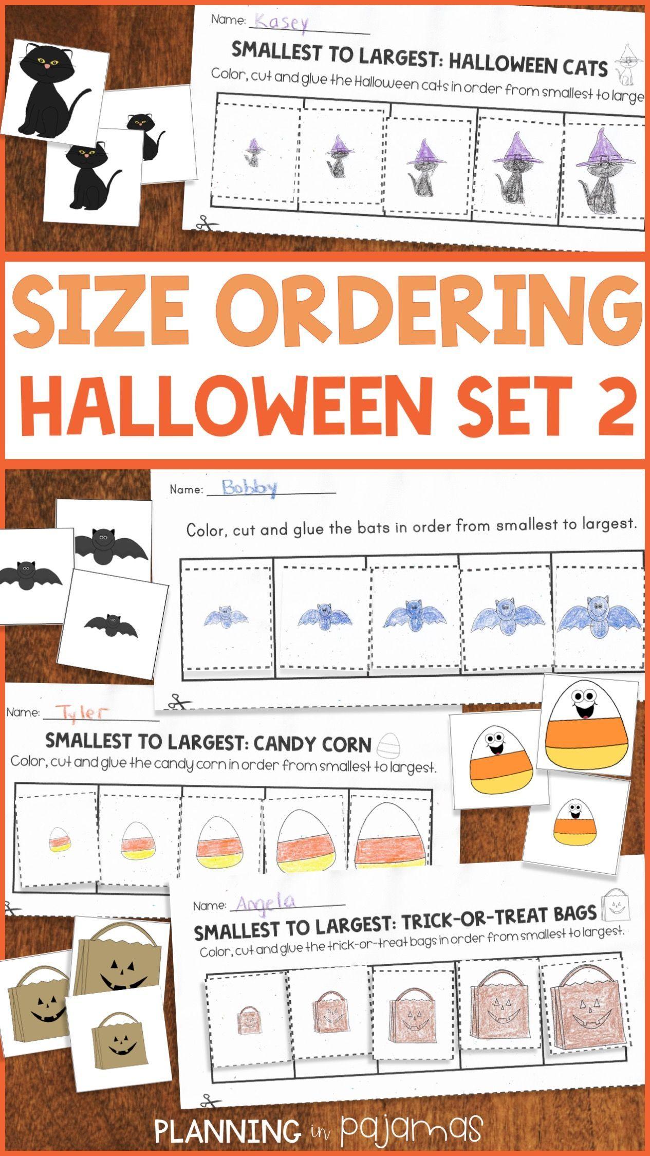 Halloween Size Ordering Set 2