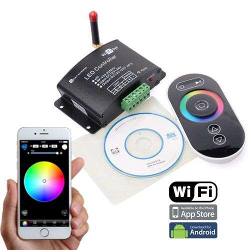 12V 24V LED Flex Strip RF Remote and Audio Color Changer with Dimming