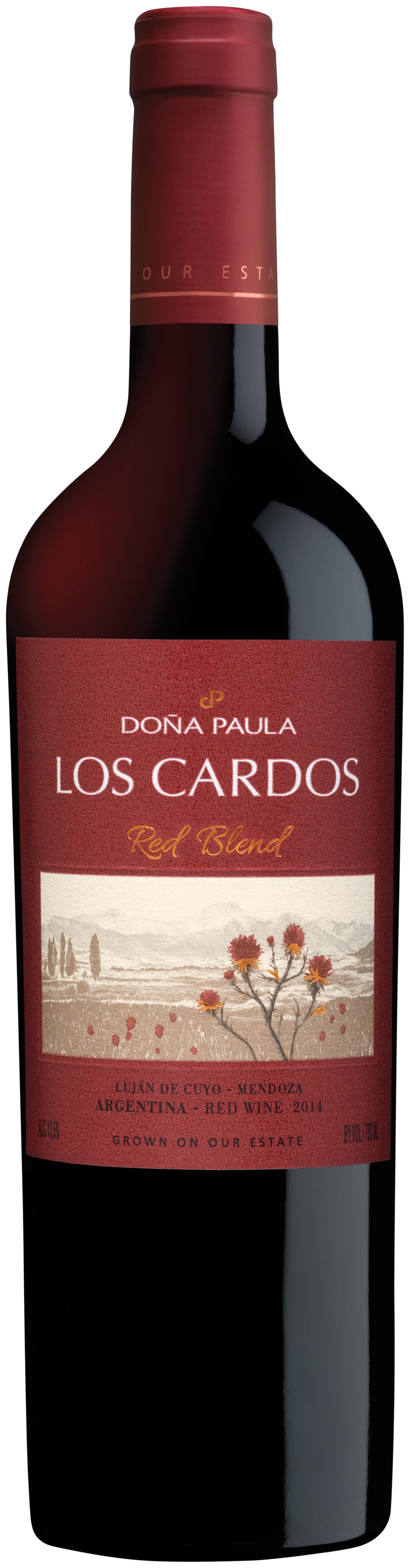 Los Cardos Red Blend 40 Malbec 30 Cabernet Sauvignon 27 Syrah 3 Tannat 2015 Bodega Dona Paula Lujan De Cuyo Sauvignon Malbec Cabernet Sauvignon